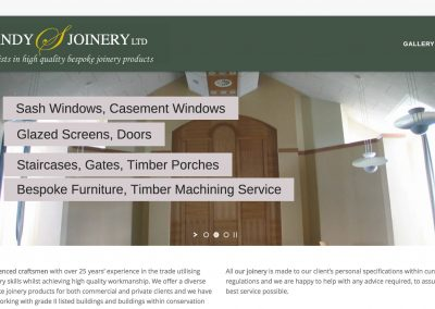 Website Development – Sandy Joinery